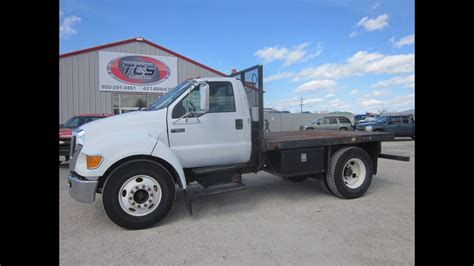2005 Ford F650 Flatbed Truck - YouTube