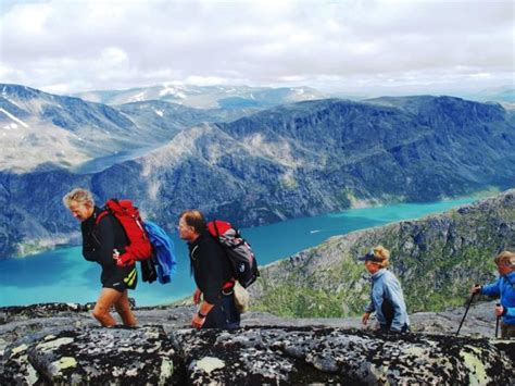 Mountain peaks hiking holiday in Norway